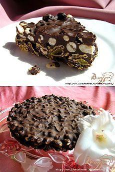 Хрустящий шоколадный торт.