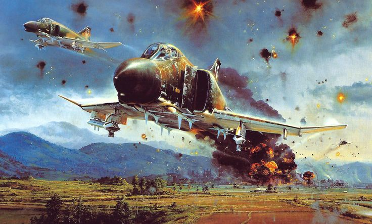 'Phantom Strike', by Robert Taylor (F-4 Phantom II, Vietnam War)