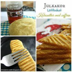 Julkakor - Kolasnittar med saffran Extra bild HÄR >> Recept på en härligt julig kaka med saffran som är lätt att baka (ca 24 st) Re...