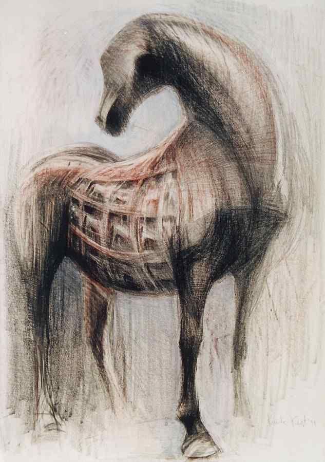 """ Trojan Horse"" drawing 100X70 1999"