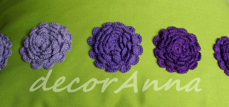 Violet crochet flowers