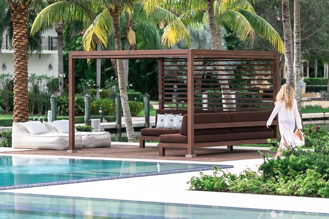 162 best images about pool ideas on pinterest swimming for Outdoor pool cabana