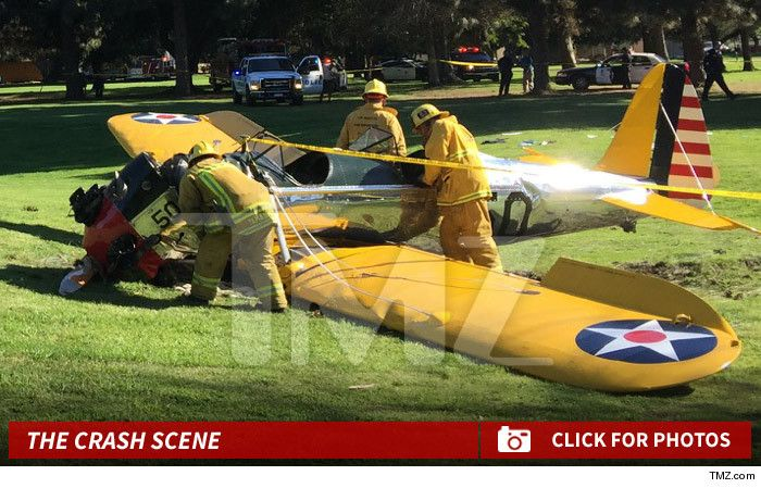 Harrison Ford -- Plane Crashes ... Actor Seriously Injured