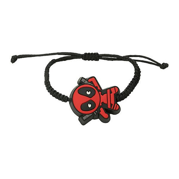 Marvel Deadpool Kawaii Cord Bracelet Hot Topic ($6.50) ❤ liked on Polyvore featuring jewelry, bracelets, cord bracelet and rope bracelet