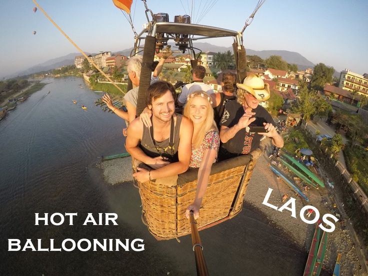 Hot Air Balloon Ride in Vang Vieng | Laos | The Married Wanderers