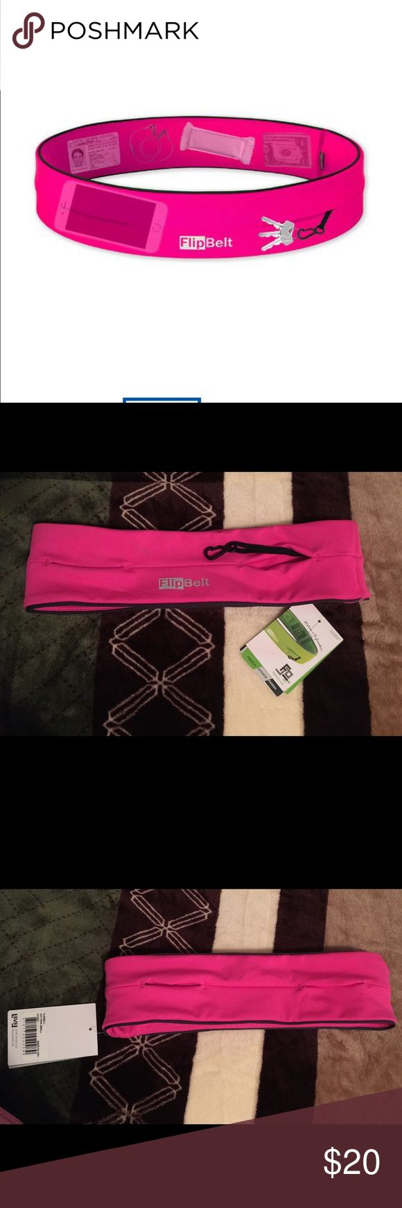 Flip Belt Sz Small, New with tags, hot pink. Exercise storage belt level Pants