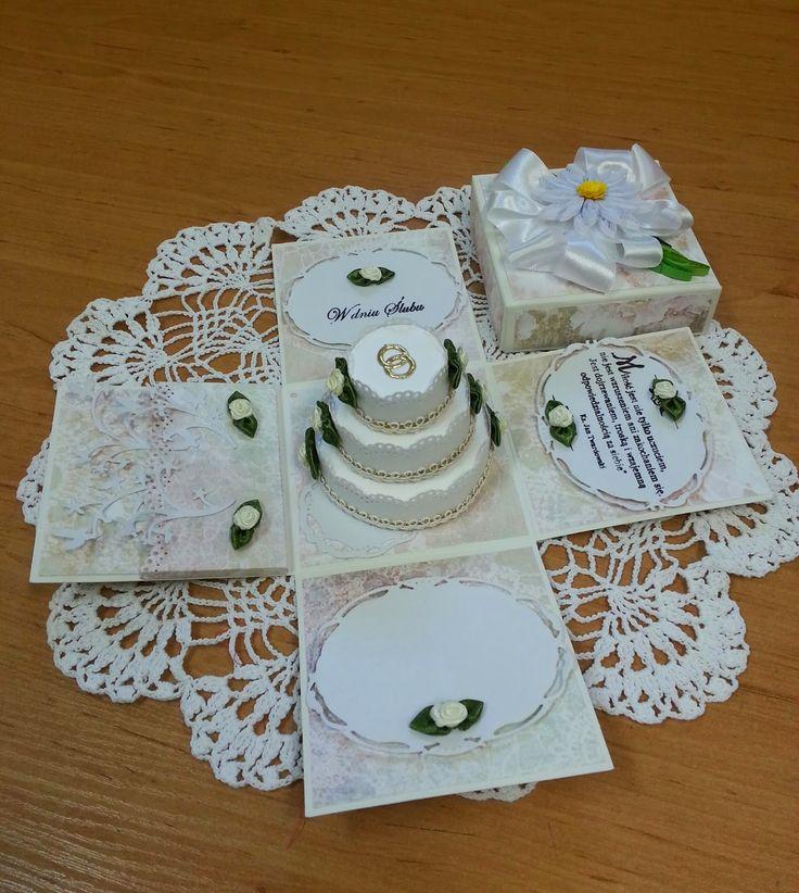 Papierowo zakręcona    : Pudełko wybuchowe z okazji ślubu