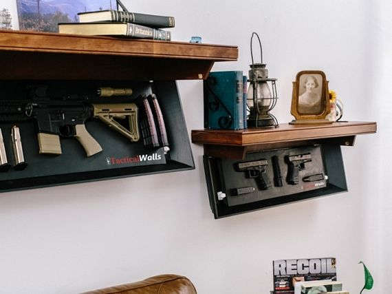 These Tactical Wall Shelves Hide Your Guns In Plain Sight