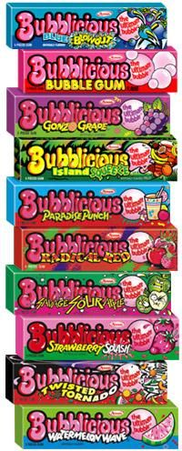 Bubblicious Gum! Twisted tornado was my FAVORITE!!