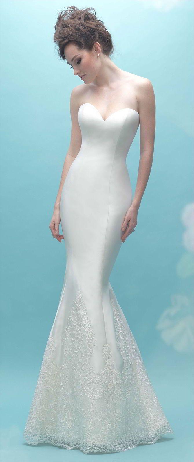 201 best Sheath Wedding Dresses images on Pinterest | Wedding ...