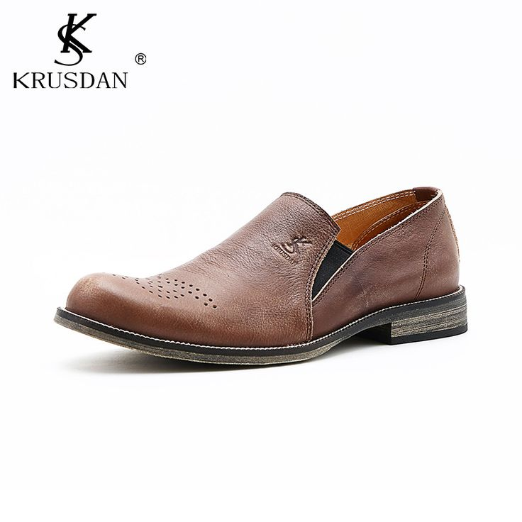Hot Sale Men's Shoes Genuine Leather Slip On Men Loafers Italian Style Luxry Brand Dress Leather Shoes Oxford Wedding Shoes