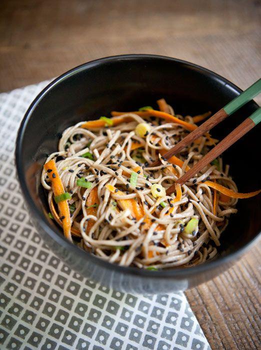 sesame noodle bowlWeeknight Dinner, Sesame Noodlebowl, Soba Noodles, Soy Sauces, Gluten Free, Shirataki Noodles, Vegan Recipe Easy, Sesame Noodlee Bowls, Sesame Noodles Bowls