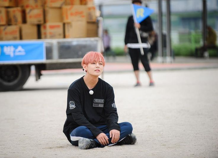 Aww lil V just sitting down... i honestly find anything he does cute ♡
