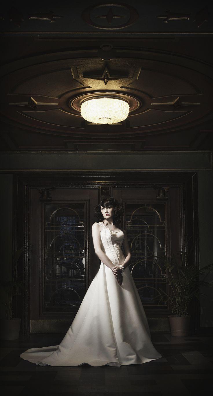 Eva -corseted wegginggown  Designer Aurora Raiskinen Pic ByMikaelas MUAH Kati Suokas /Glohair Model Fia
