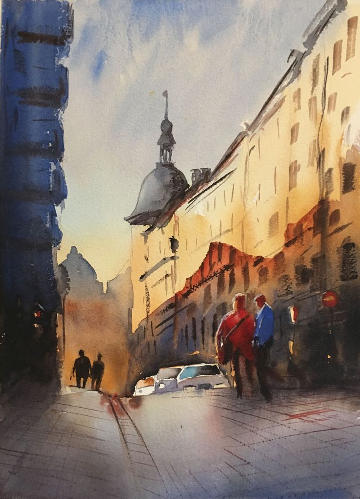 The Old Bricks, watercolor, Stefan Gadnell, SOLD