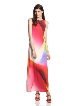 58% OFF Julia Jordan Women's Sleeveless Maxi Dress (Red)
