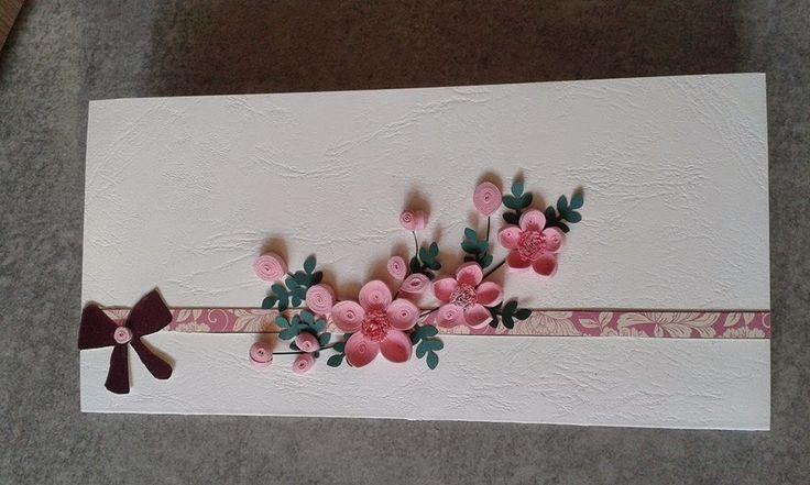 Quilling design Antonia: Felicitare flori de cires