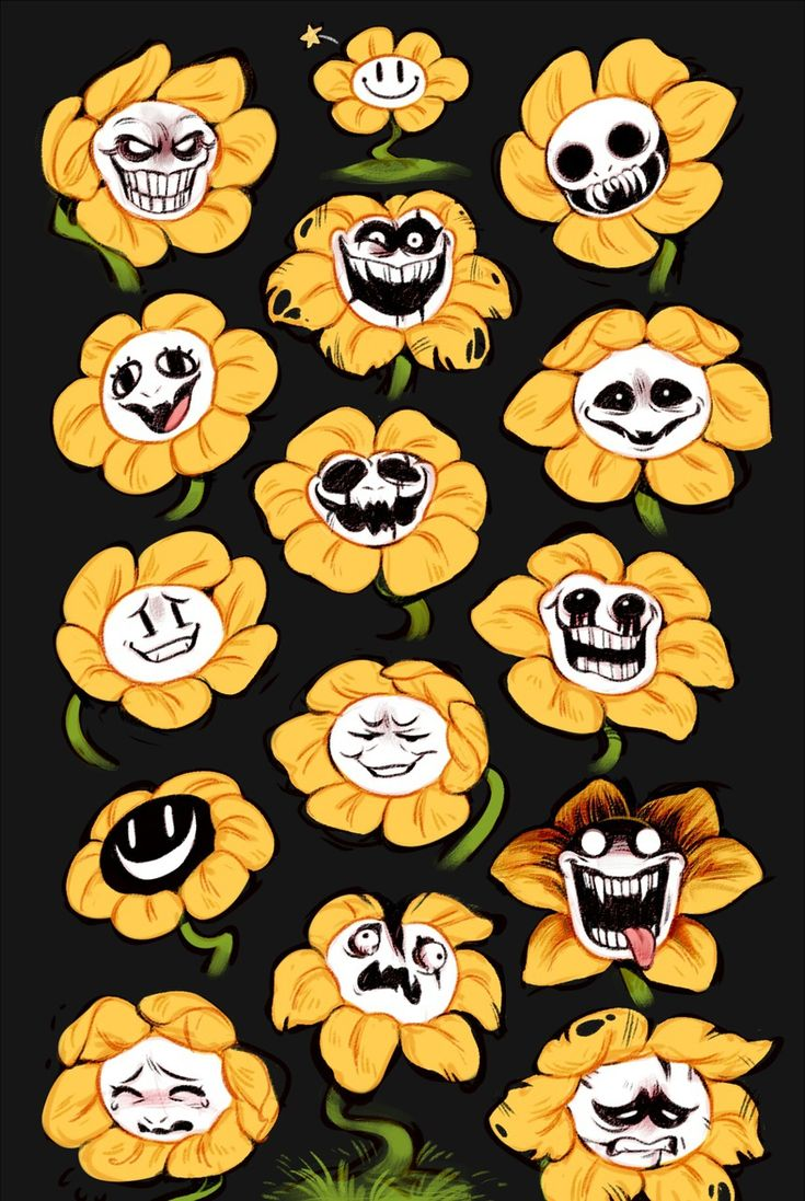 Undertale fan art flowey the flower