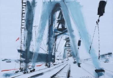 "Saatchi Art Artist Helen Shulkin; Painting, ""Port of Hamburg"" #art"