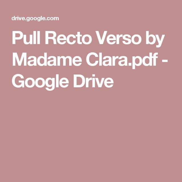 Pull Recto Verso by Madame Clara.pdf - GoogleDrive
