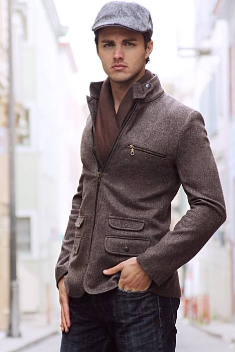 great jacket, hat, and scarf