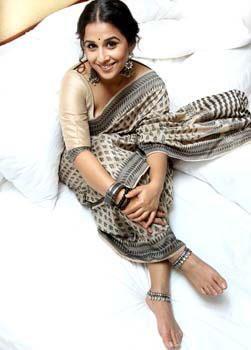 Smiling Vidya Balan In Saree Glamour Look Still
