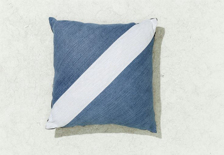 Palm Beach Black makes home wares from recycled denim. Check out http://www.palmbeachblack.com/