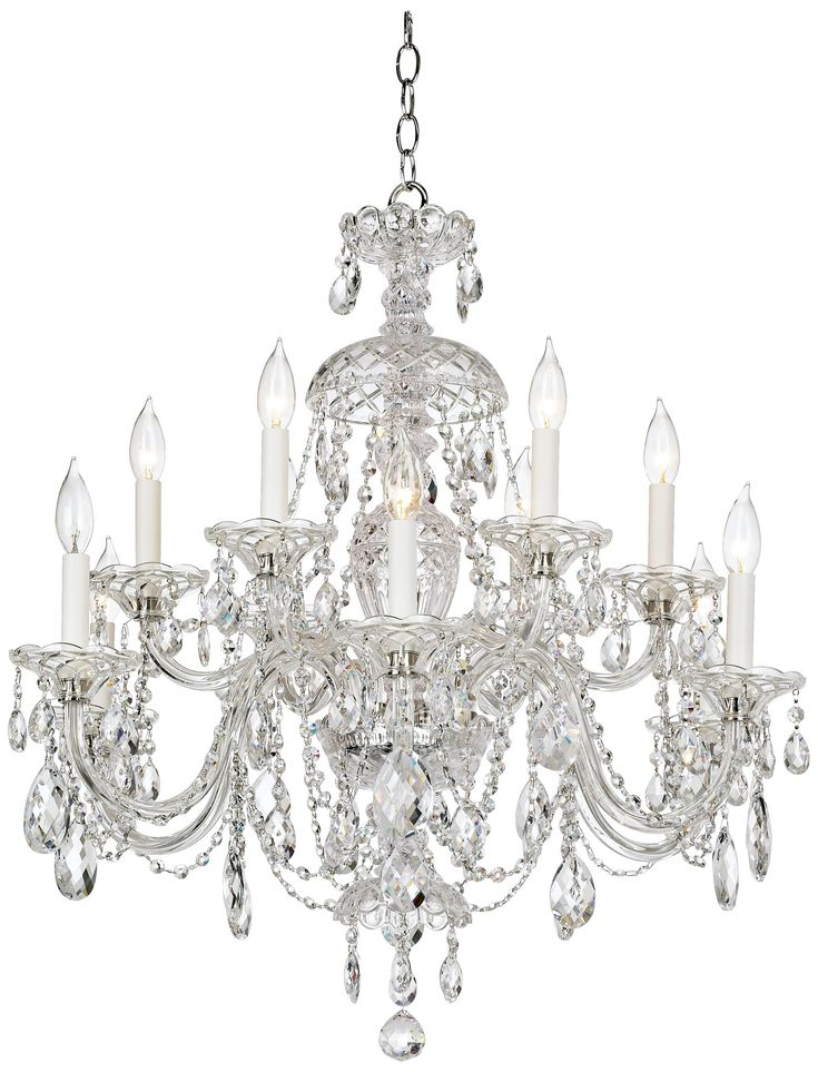 12 crystal chandeliers to add sparkle to any room