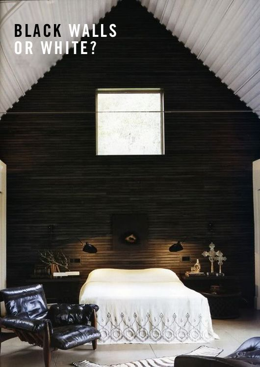 Black-or-white-walls: Modern Cottage, Dark Wall, Black Wall