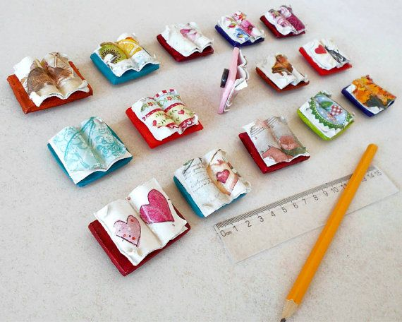 Miniature Books  Fridge Magnets  Book Lover Gift  Book