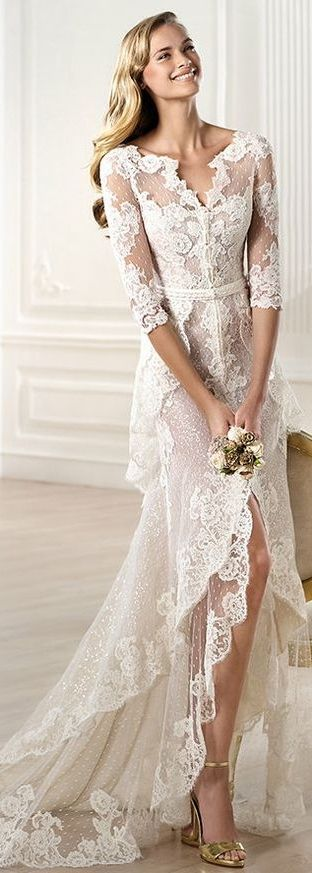 Pronovias Wedding Dress 2014 ~ YAELA #weddings #wedding-dress #lace - dress Prrrerttyyy