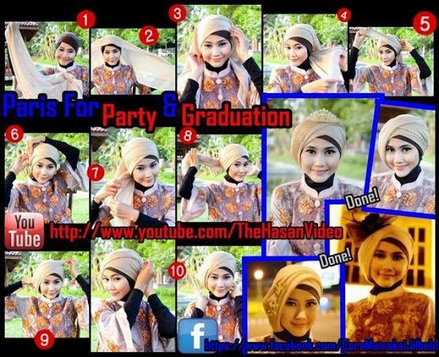 Pintar Pakai Jilbab: Tutorial Model Kerudung Segi Empat untuk Pesta dan Wisuda by Didowardah - Bagian #23