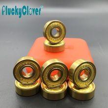 8pc/set ABEC9,11 Gold Skateboard Bearing 608 Wonderful Speed Skate wheel Bearing Pro Slalom Rollerski scooter wheel 8mm bearing //Price: $US $7.97 & FREE Shipping //     #hoodie