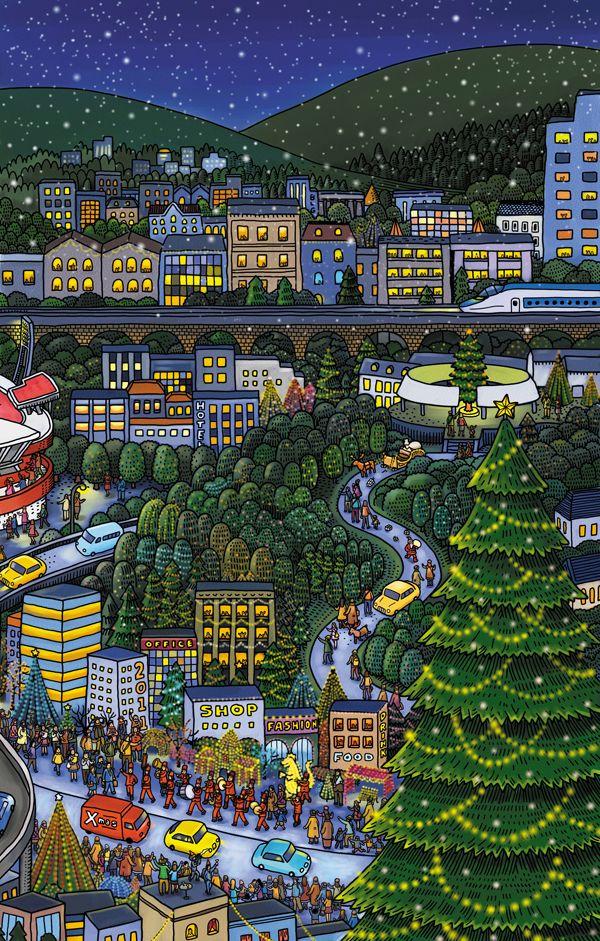 Hiroshima illustrations - Shinkin bank - Art and design inspiration from around the world - CreativeRoots