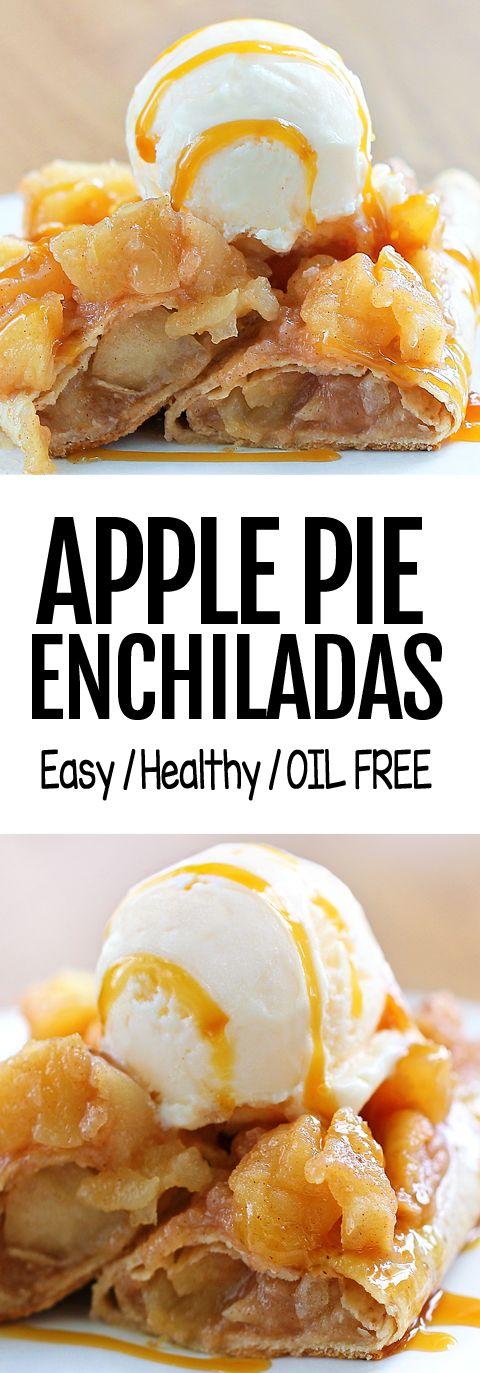 Easy Apple Pie Breakfast Enchiladas Recipe #easy #…