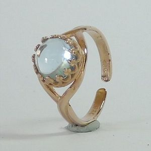 2.60 CTs.Natural Sky Blue Topaz in Rose Gold Plated over Solid Silver Multisize Ring           RI251