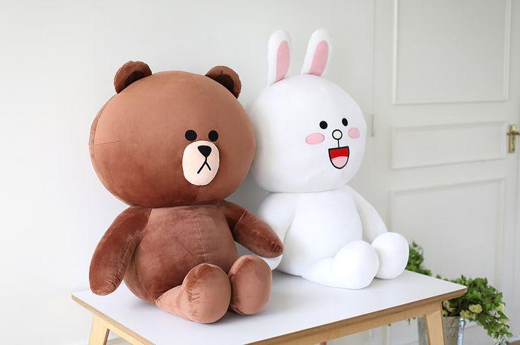 Line Friends plush dolls - Brown & Cony couple