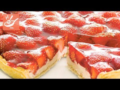Crostata di fragole e yogurt (Spadellandia) - YouTube