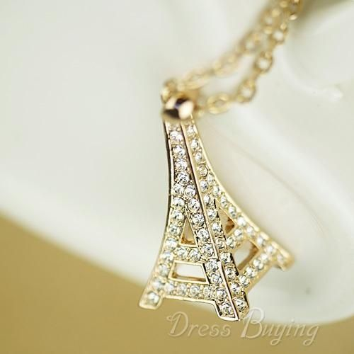 Romantic Eiffel Tower Style Fashion Lady's Necklace