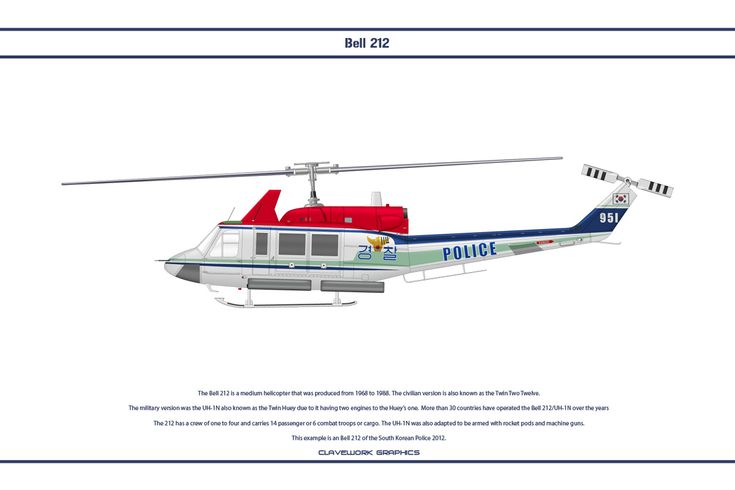 Bell 212 South Korea 1 by WS-Clave