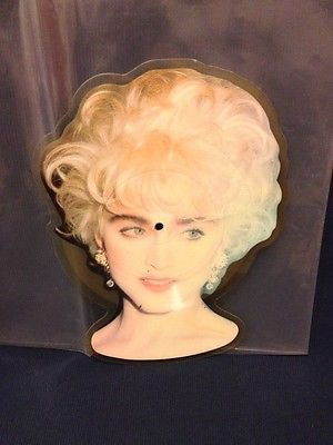 """Madonna Interview 7"""" UK PICTURE DISC SHAPE MADONNA 7S Unofficial 1989 Rebel"""