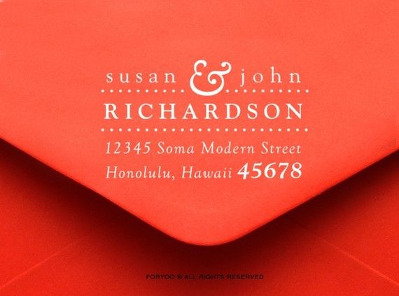personalized address stamp.