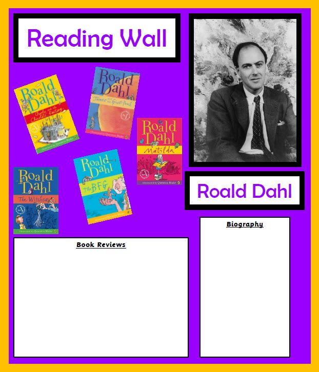 Roald Dahl display - Everything you need to create a Roald Dahl display in your classroom.