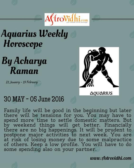 Check your Aquarius Weekly Horoscope (30/05/2016 - 05/06/2016).  #aquarius #weekly_horoscope