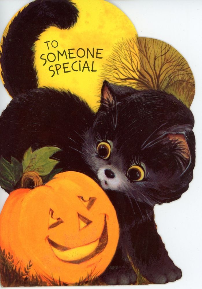 Vintage Hallmark Halloween Greeting Card Pumpkin