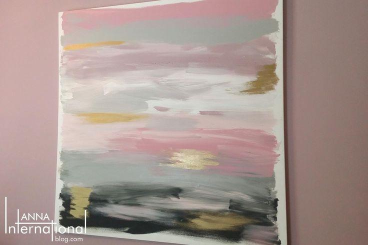 Anna International Blog - DIY Abstract Canvas Art Pink