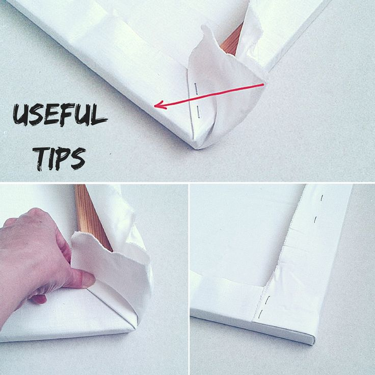 How To Stretch A Canvas Print On Stretcher Bars Diy