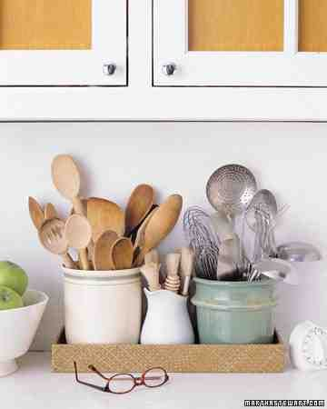 The Kitchen - Whether you're cooking, cleaning, or entertaining a close group of friends, the work of a kitchen is never done (making it the last place clutter should be). Every year, take an inventory of all utensils, cookware, and dishware.