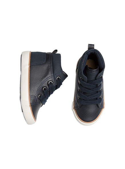 Pumpkin Patch -  - boys global high top sneaker - S5FW60004 - orion blue - 4 to 3l