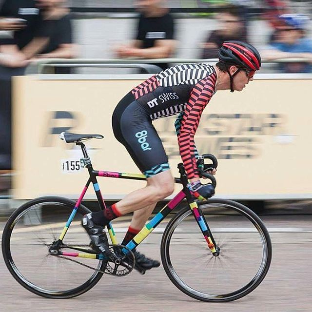 """#Repost from @8barrookies - """"@redhookcrit London is coming up this weekend. Time to race again! 😎🎉🚲💨 📷 @stefanhaehnel"""" #8bar #8barbikes #8barrookies #fixedgear #fixie #trackbike #race #crit #redhookcrit #rhc #rhclondon #rhcl3 #mylegsaremygears Get 25% off T-shirts at HizokuCycles.com Use promo code RIDEORDIE at checkout until the end of this month."""